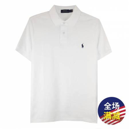 Polo Ralph Lauren 男士小马标短袖polo衫·米白