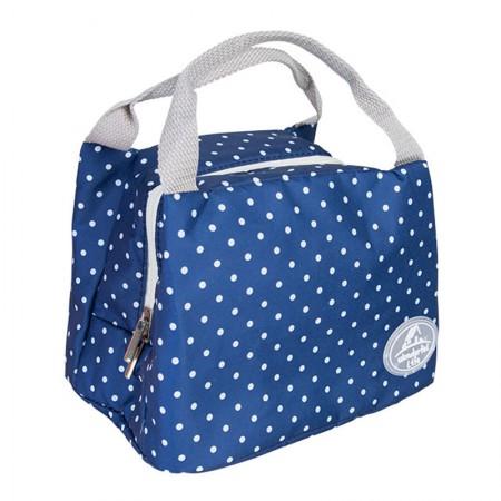 宝优妮 午餐饭盒保温袋防水手提包DQ9003系列·伊豆蓝