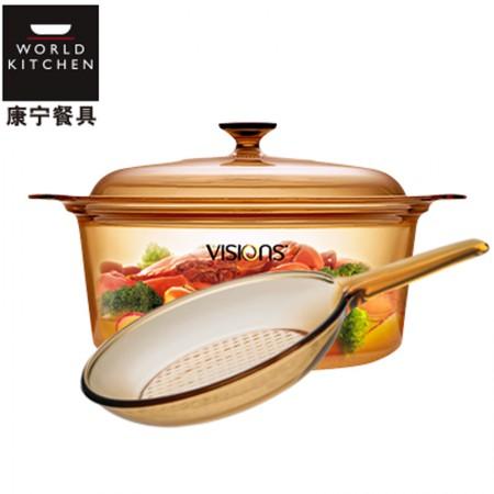 美国康宁 晶彩透明锅5L VSD5+单柄煎锅 VSS9·标配