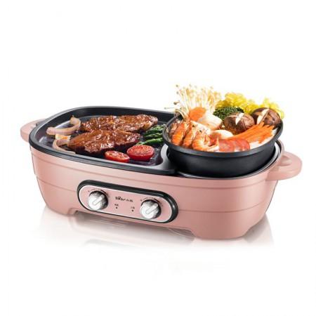 小熊(Bear)家用多功能烤涮一体韩式料理锅 DHG-B15A1