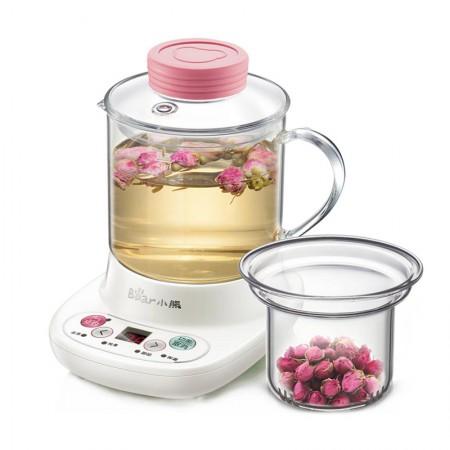 小熊(Bear)自动加厚玻璃电热杯煮花茶壶 玻璃滤网 YSH-A03C5