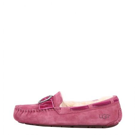UGG 女士豆豆鞋胸针款·紫红色