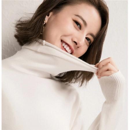 秋冬时尚镂空超柔打底衫·白色简约