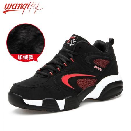 万旗飞扬加绒款运动鞋692·黑红-男款